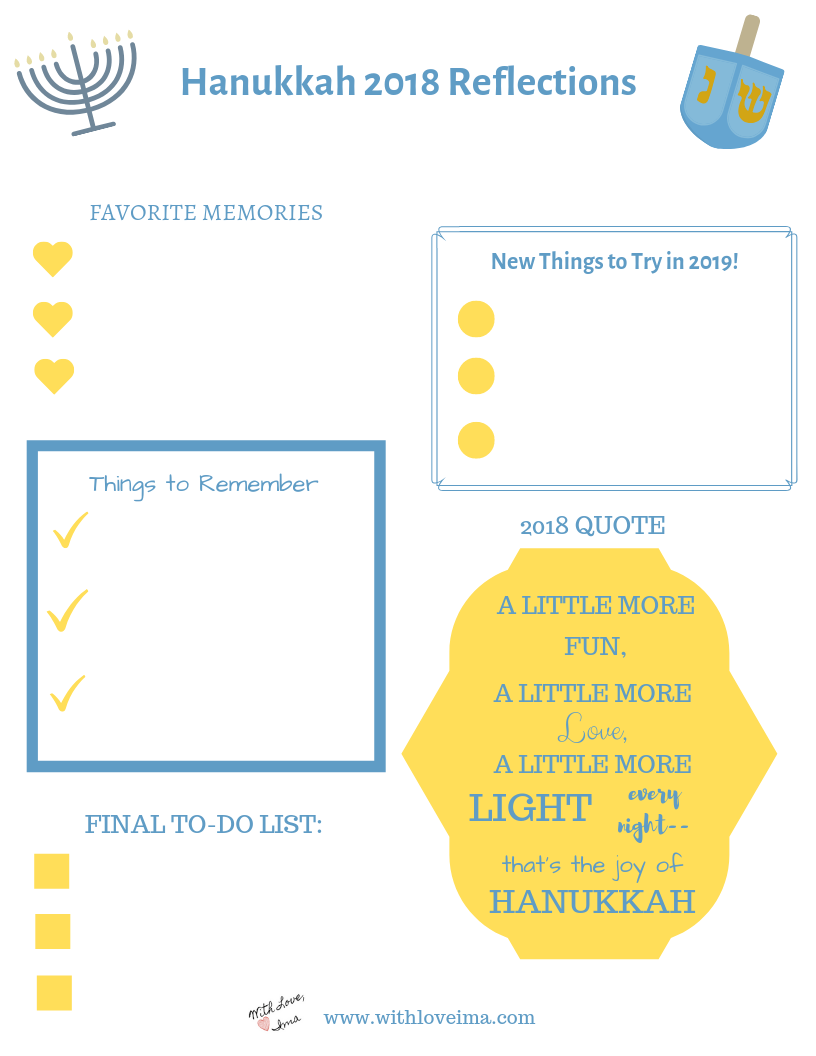 Hanukkah Reflection Bullet Journal - With Love, Ima